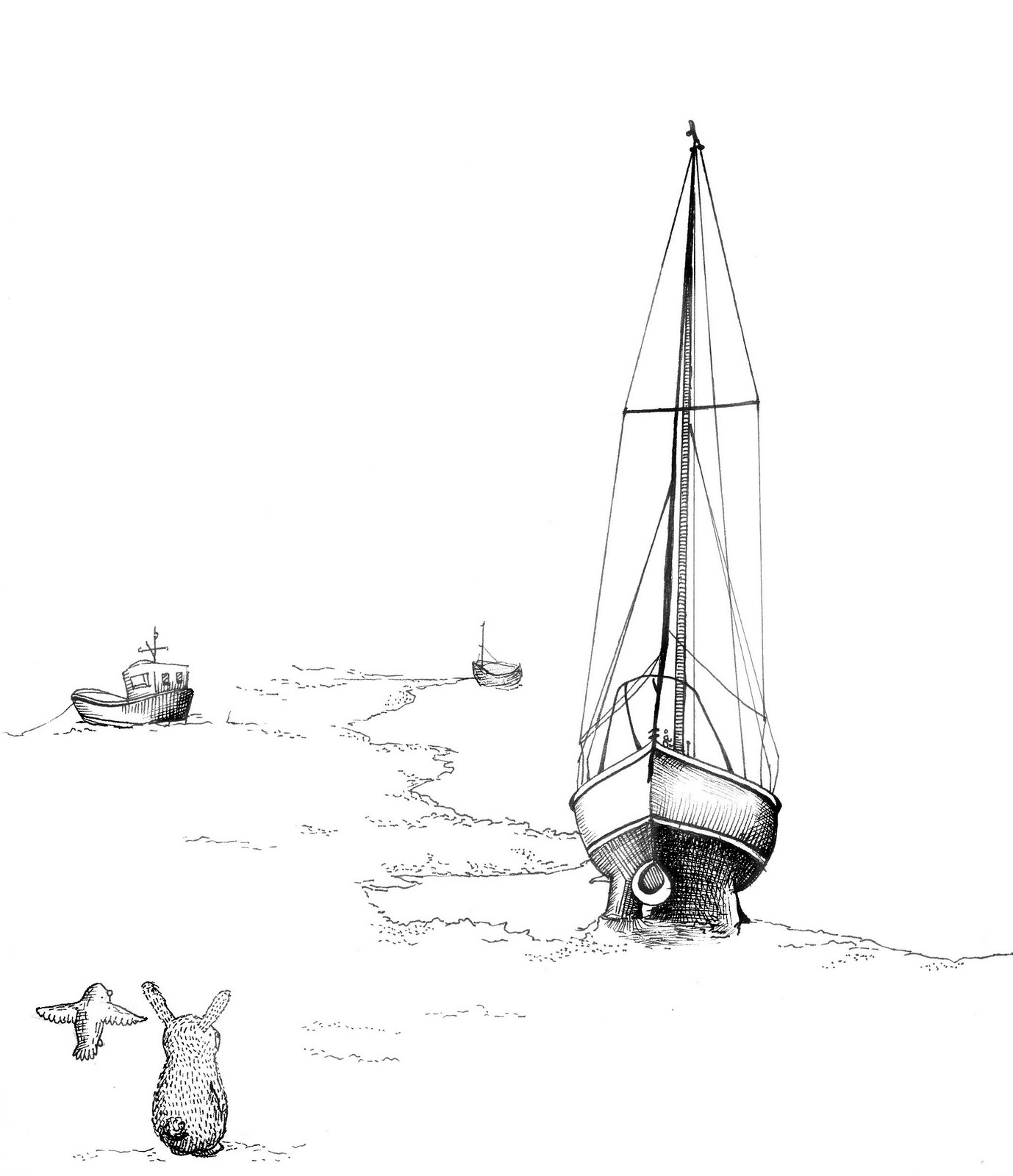 Picture Books Anonymous Black And White Line Drawings