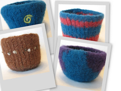 2007 Felted Bowls