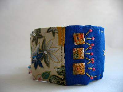 Blue Asian Cuff Bracelet