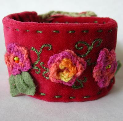 fabric cuff bracelet by tamdoll