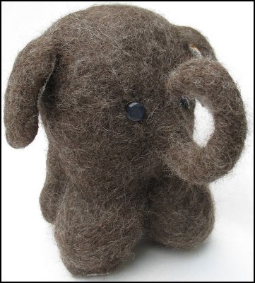 tiny wool elephant by tamdoll