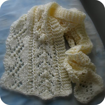 knit lace scarf