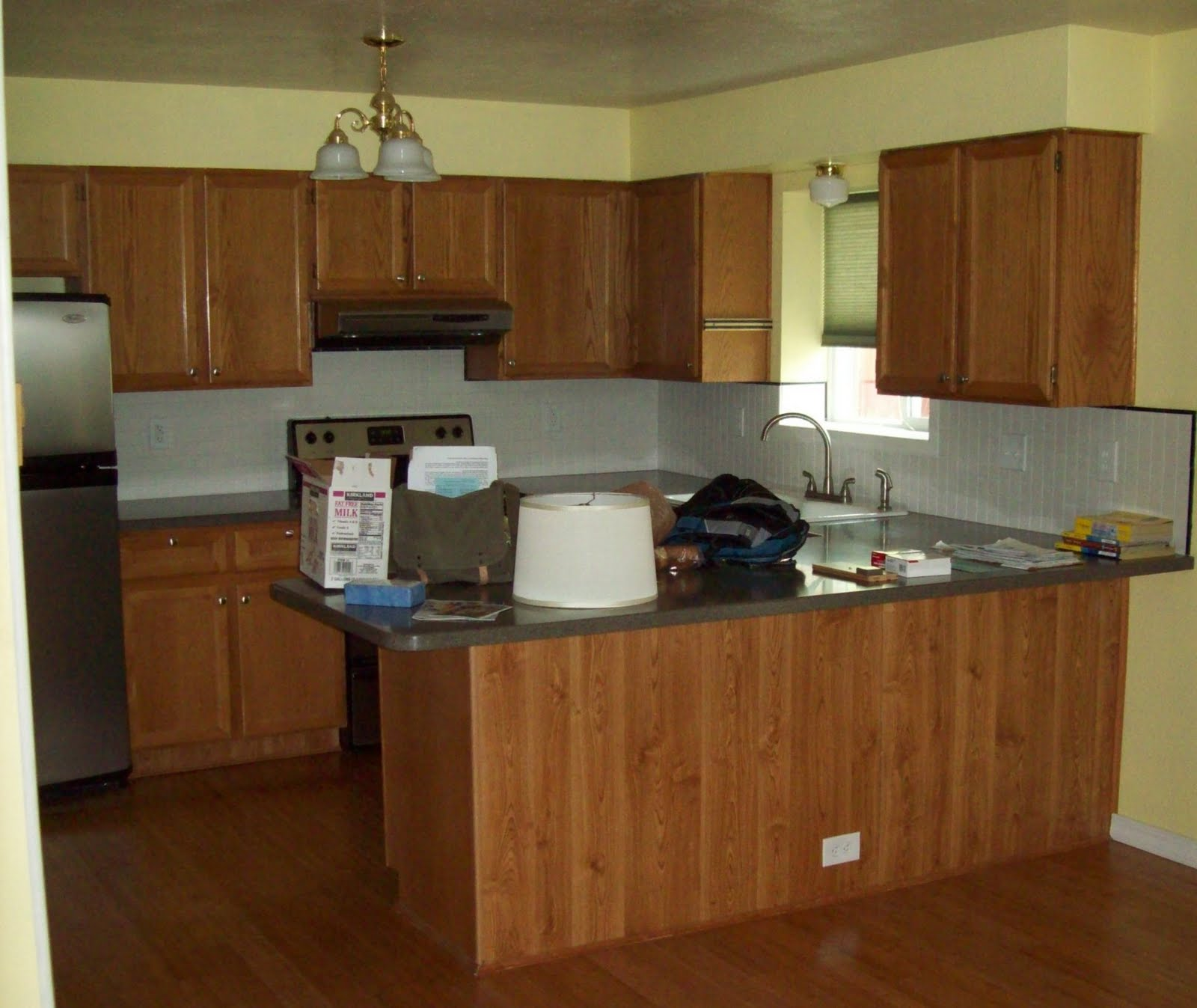 kitchen colors with brown cabinets. How To Paint Your Kitchen Cabinets Running With Scissors