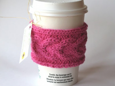 Free Knitting Pattern Coffee Cup Sleeve : KNITTED COFFEE CUP SLEEVE PATTERNS 1000 Free Patterns