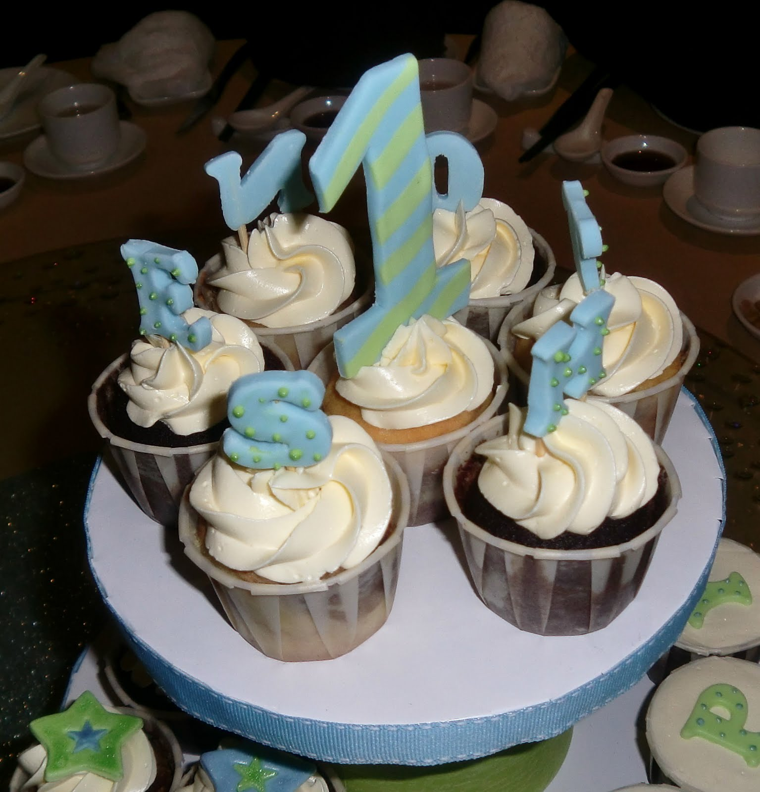 Babysweet Cakes Birthday Cupcake Tiers for 1year old Boy