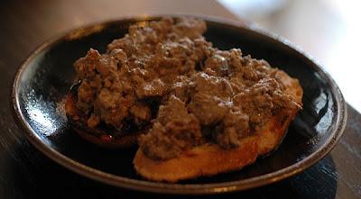 Beretta Chicken Liver Tuscan Crostini