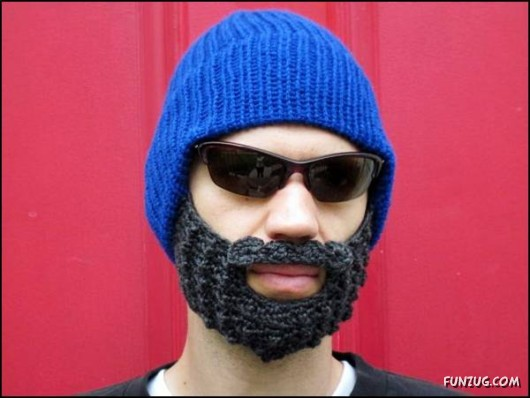 638e0826085 Craziest Beard Head Knit Caps ~ CRAZY PICS !