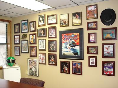 Studio C Displaying Sports Memorabilia