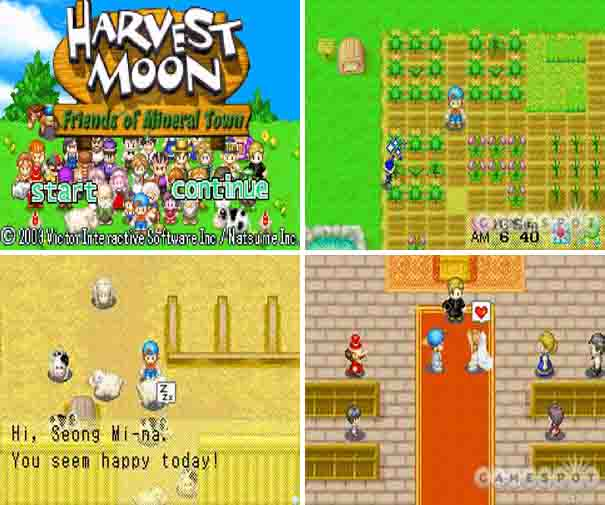 harvest moon mineral town rom