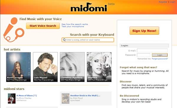 midomi com free online music recognition