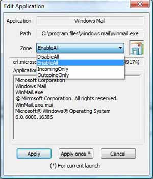 Vista Firewall Control screenshot