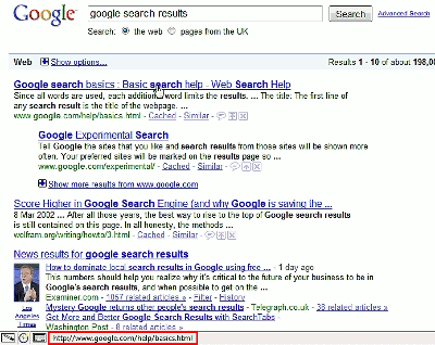 A Consuming Experience: Google search results redirection