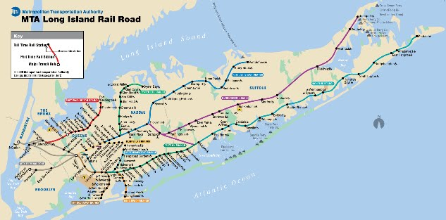 Long Island Railroad Map Locally Long Island: How to Take the Long Island Rail Road (LIRR) Long Island Railroad Map