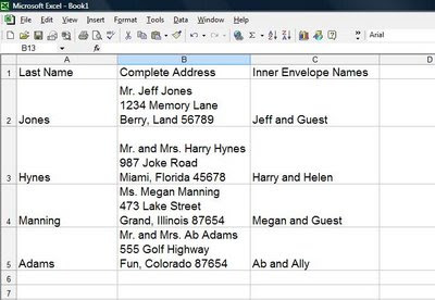 designs by robyn love how to create an alphabetized excell guest list