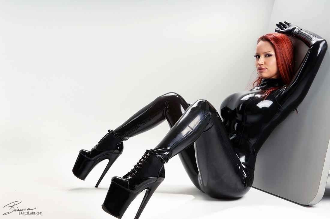 Black Latex Catsuit 36