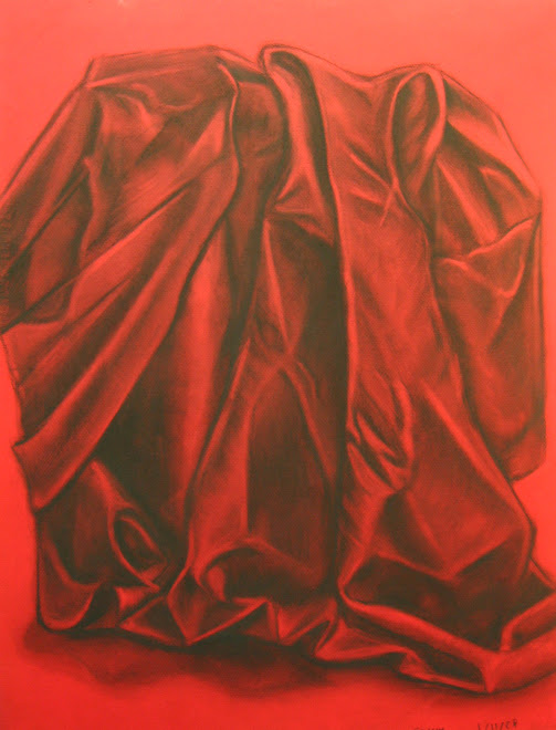 Su Kim, charcoal on red canson, 04-01-08