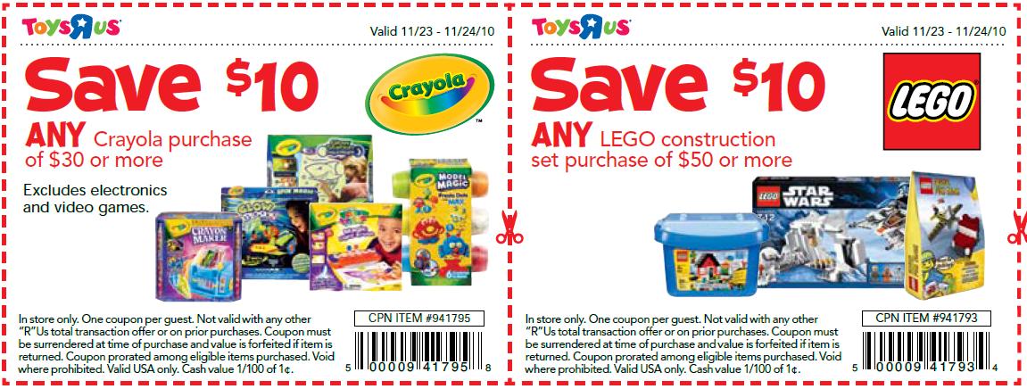 Minnesota Coupon Adventure Toys R Us 2 Day Sale Legos