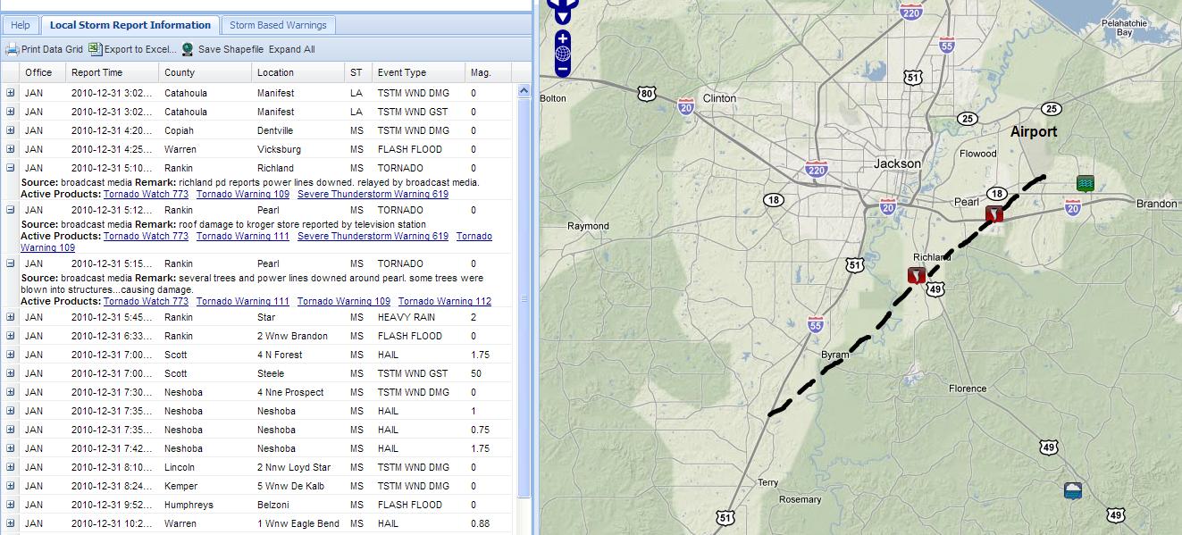Kroger Byram Ms >> The Original Weather Blog: Update on Tornadoes Near ...