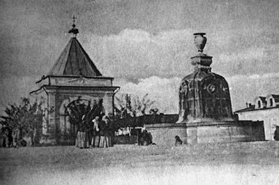 Фонтан на Базарной площади в Симферополе