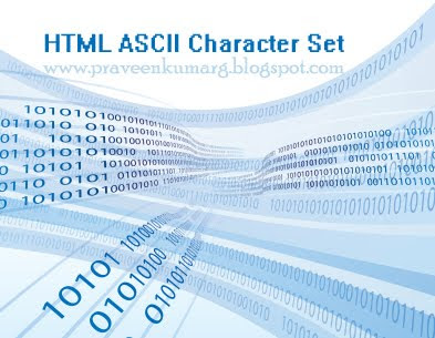 List Of HTML ASCII Reference