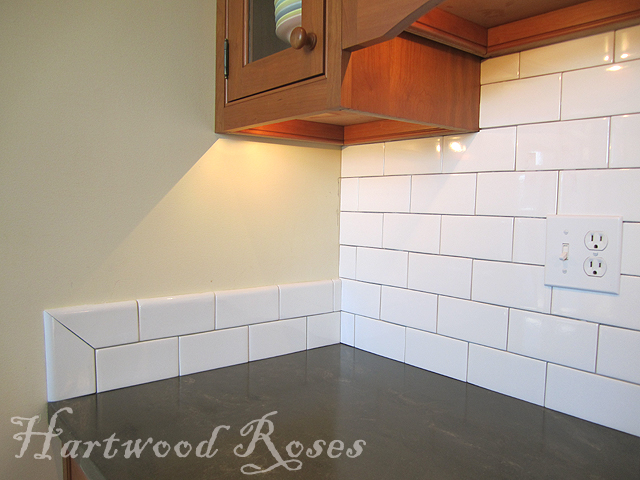 How To Finish Tile Edges Underneath Kitchen Upper Cabinets