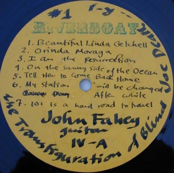 John Fahey Record Labels And Other Trivia For Collectors