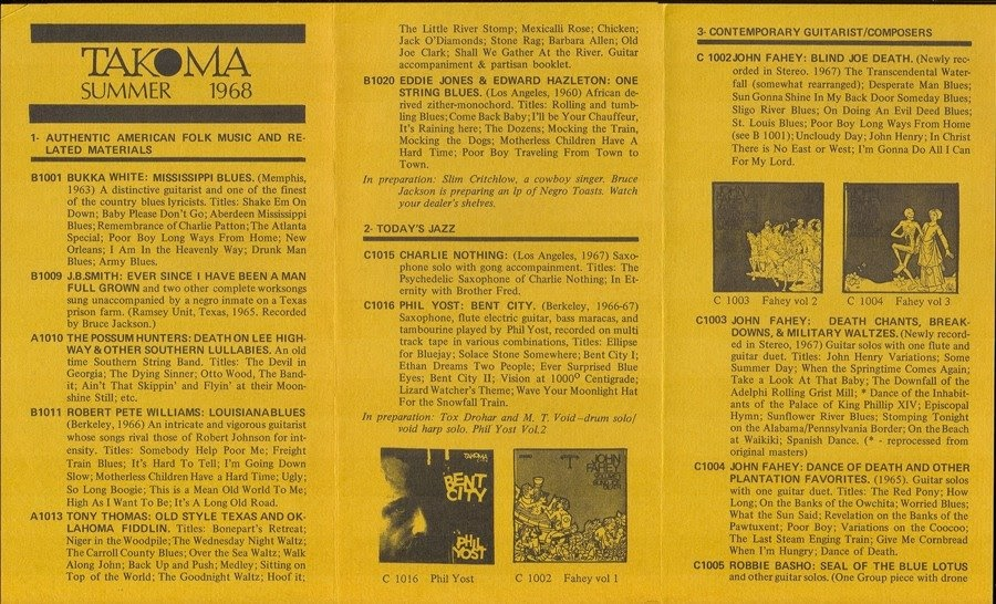 Download John Fahey The Transfiguration Of Blind Joe Death Rar
