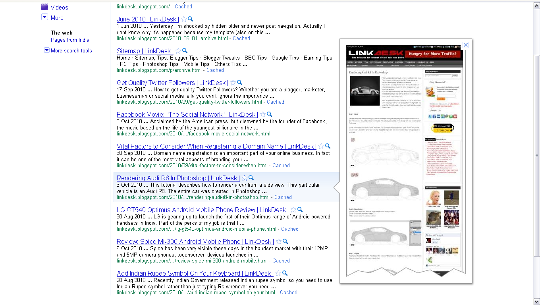 Google Search Preview !!!