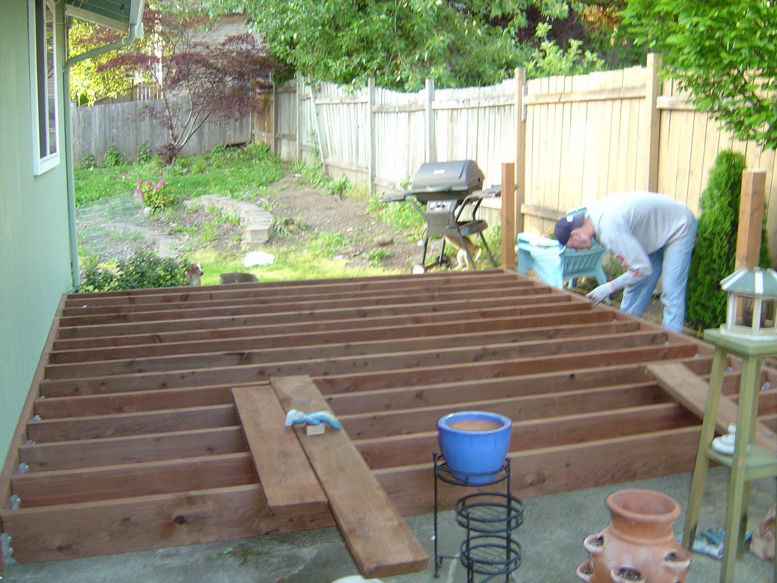 Woodwork Build Wood Patio PDF Plans