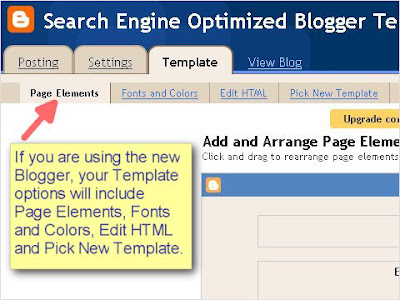 SEO Blogger Template Tutorial - Step 2