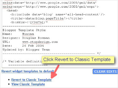 SEO Blogger Template Tutorial - Step 3