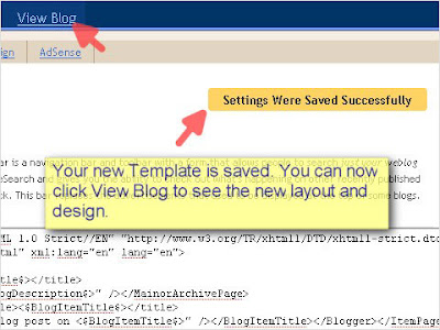 SEO Blogger Template Tutorial - Step 11
