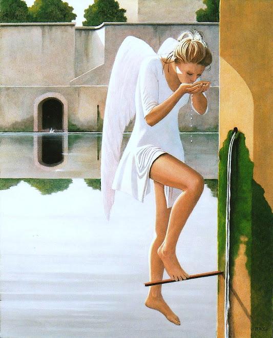 l'ange à la fontaine
