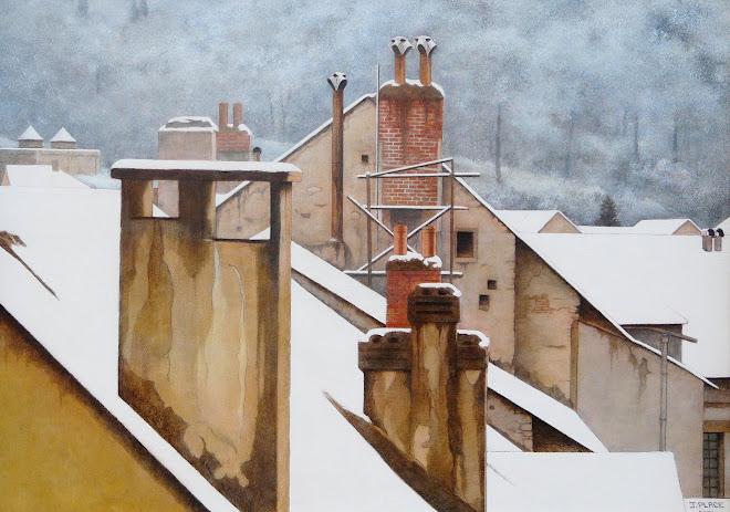 toits sous la neige