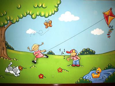 Murales en colegios sal n de juegos for Murales infantiles