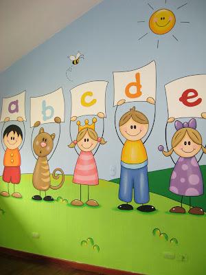 Murales en colegios for Murales infantiles
