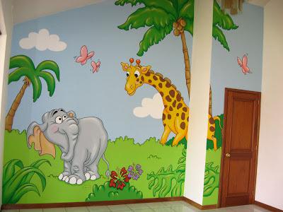 Murales en colegios aula de la jungla - Pintar murales infantiles ...
