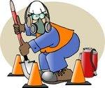Treinamento e papaletras: Segurança em áreas de trabalho com risco elevado.