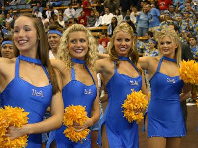 Dick enberg and cheerleader