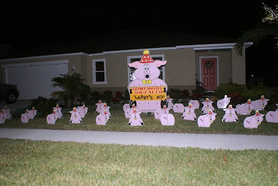 Happy Birthday Pig Decorations To Celebrate A FUN SIGN SURPRISE 813 777 7185