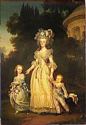Le Petit Trianon. Marie-Antoinette+d%27Autriche,+reine+de+France,+et+ses+enfants+par+Eug%C3%A8ne+Bataille