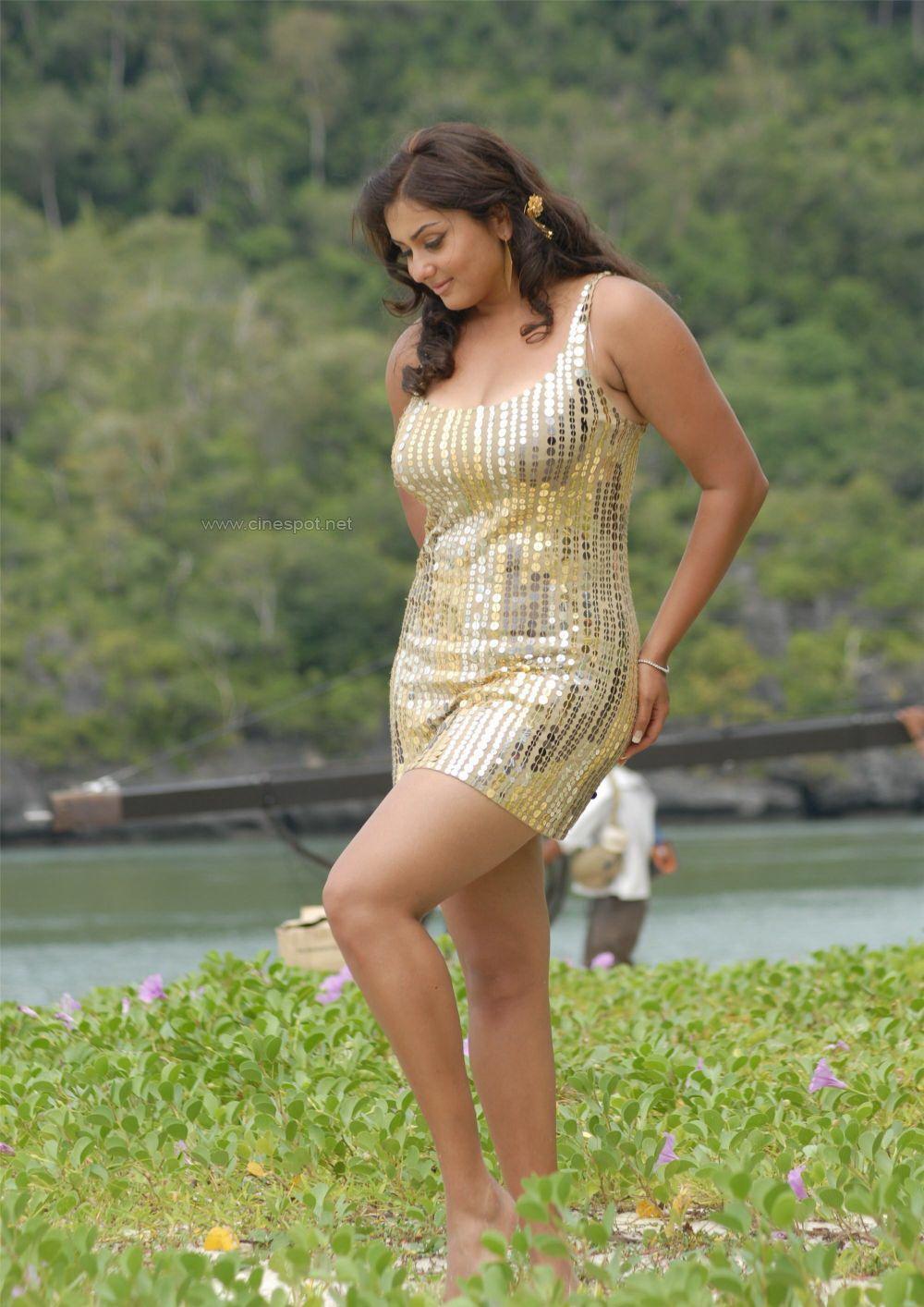 Namitha Actress And Tamil Model Sexy Short Dress Images -3056