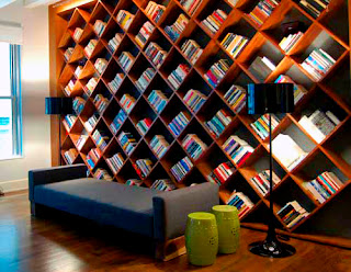 Home Rejuvenation: Bookshelves from homerejuvenation.blogspot.com