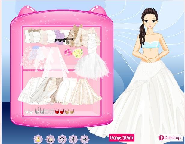 juegos de vestir novias de boda y maquillar y peinar