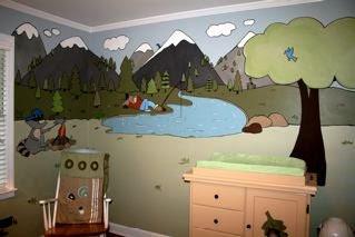 Baby Boy S Rugged Cartoon Mountain Nursery