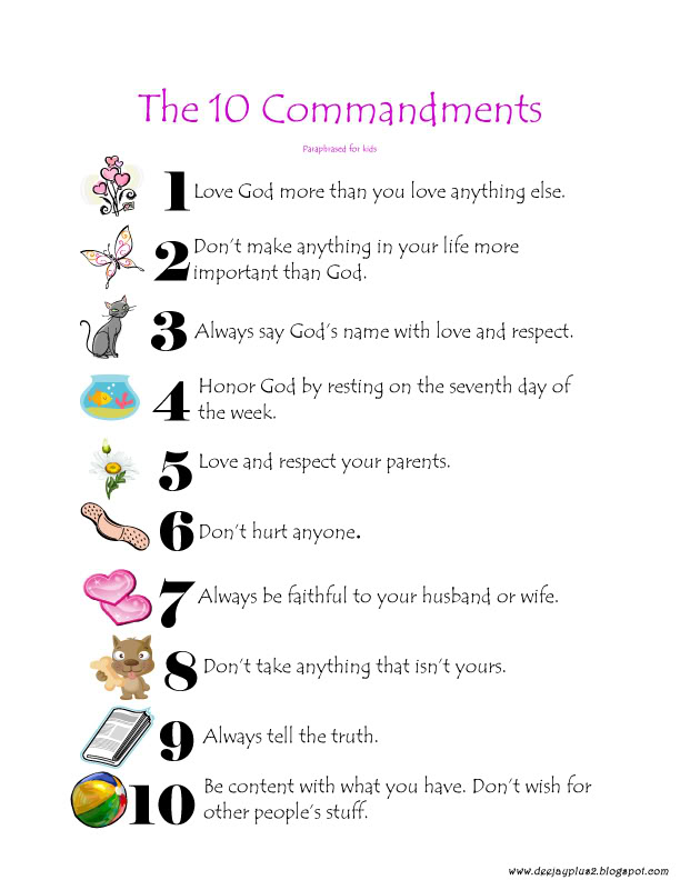 Printable Ten Commandments For Kids | Search Results ...