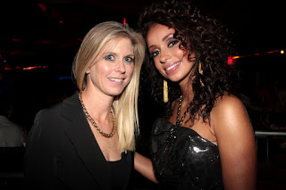 Grammy award winner Mya with Marla Malcolm Beck