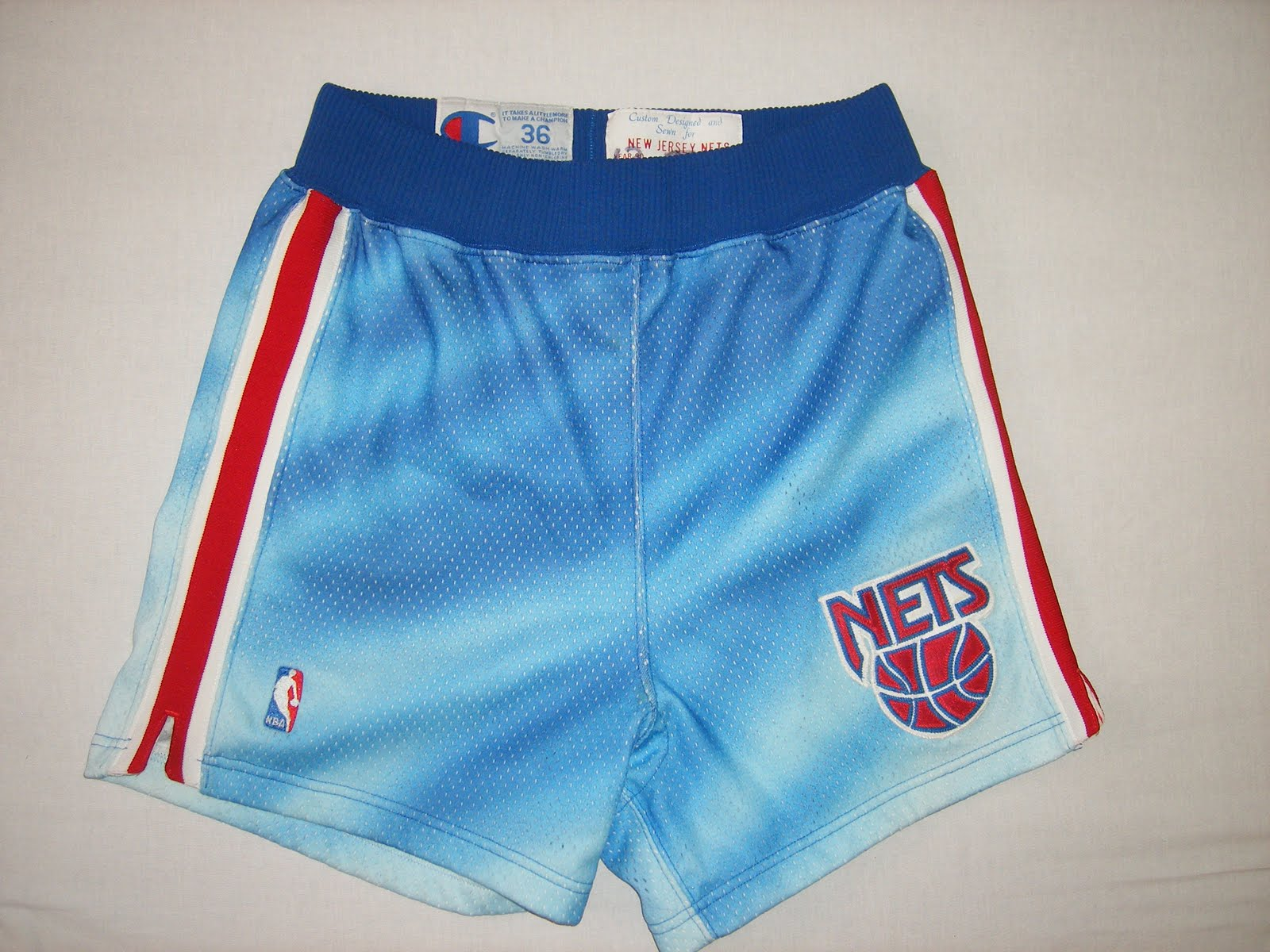 caca7480522 Check out these sick shorts from the New Jersey Nets circa 1990-91. These  were some of the ugliest uniforms ever, which is probably why I love them.