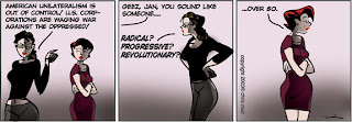 """Cartoon: Day By Day cartoon ridiculing """"hip"""" Marxism as old hat"""
