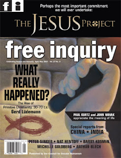 Cover: Free Inquiry Magazine for April/May 2007; title: The Jesus Project; subtitle: What Really Happened?